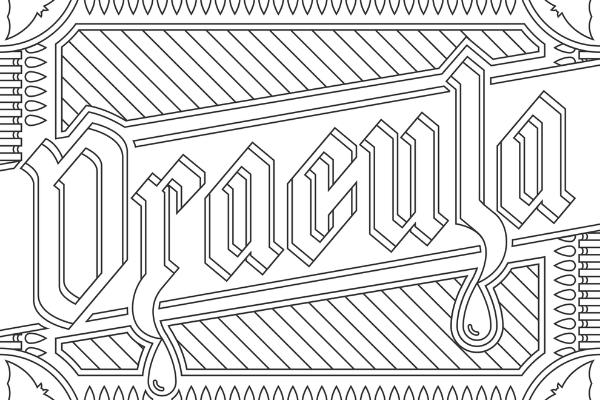 Dracula coloring page thumbnail