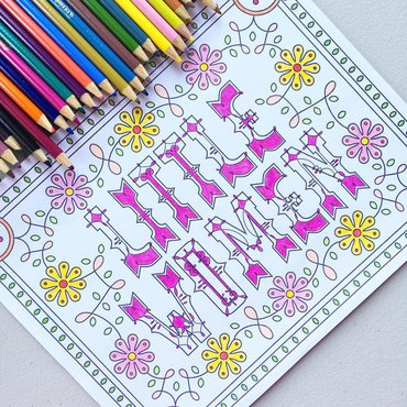 Little Women coloring page and coloring pencils