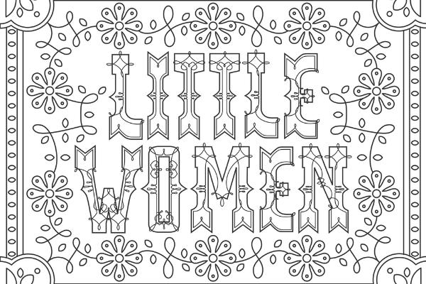 Little Women coloring page thumbnail