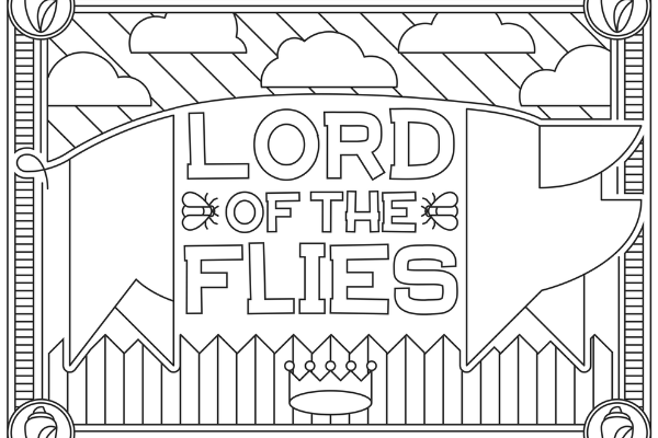 Lord of the Flies coloring page thumbnail