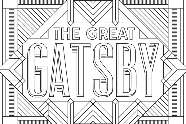 The Great Gatsby coloring page thumbnail
