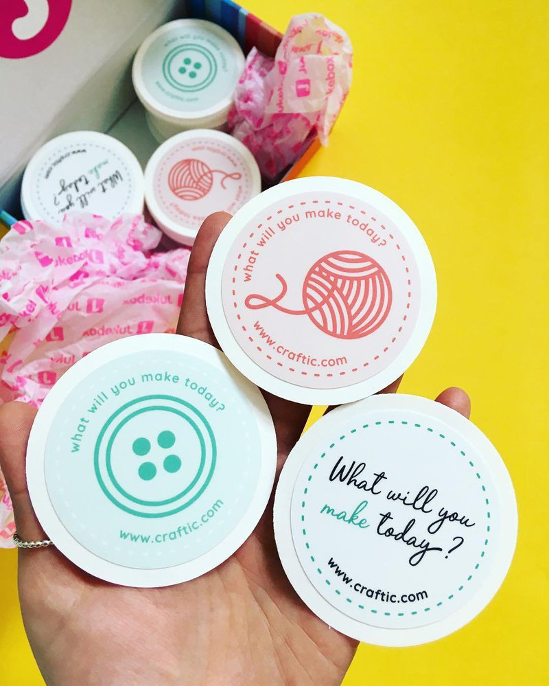 Craftic Stickers - Set of 3 craft stickers