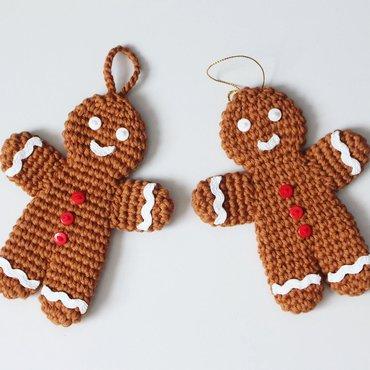Crochet gingerbread man ornament ornaments