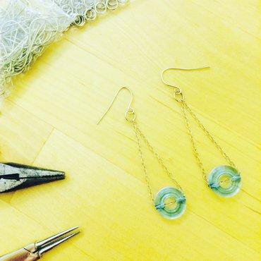 Pair of dangly bead earrings