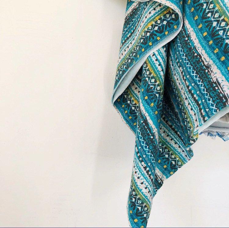Maker Mountain Fabrics - blue patterned fabric