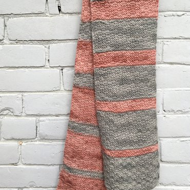 Finished merging colors scarf hanging