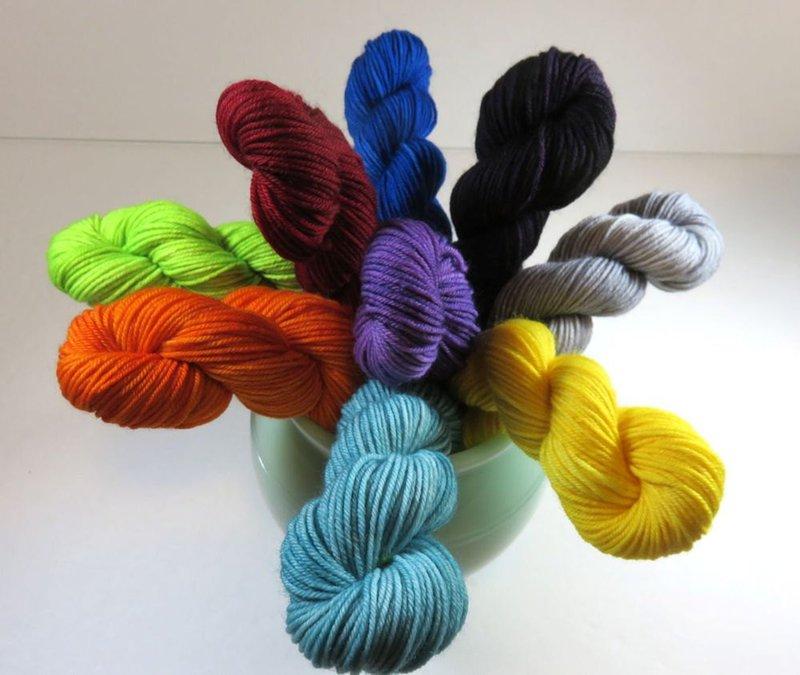 See Jayne Knit Yarns - hand dyed merino yarns