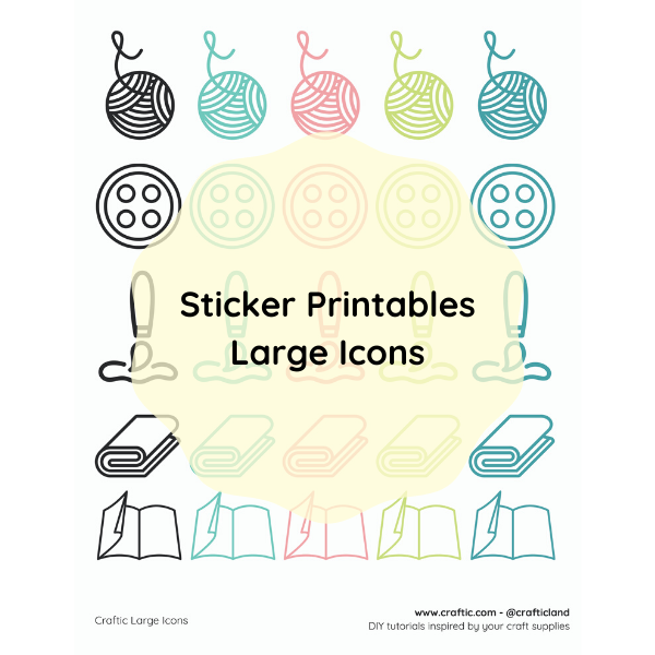 Free printable - Large stickers thumbnail