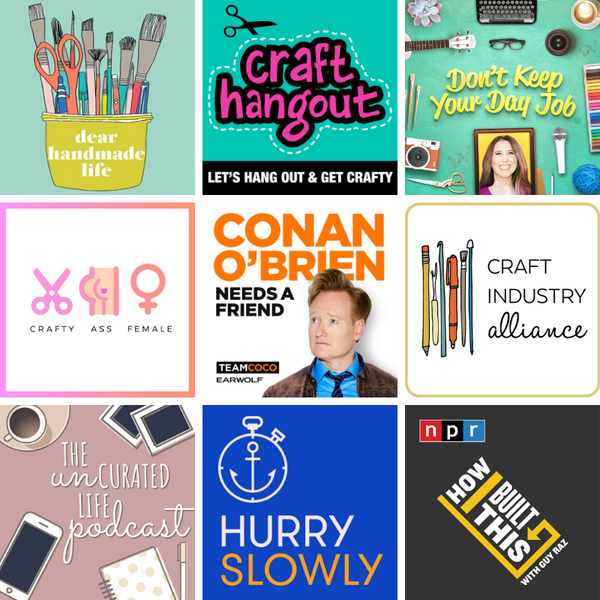Top 9 podcasts recommendations - 9 show thumbnails
