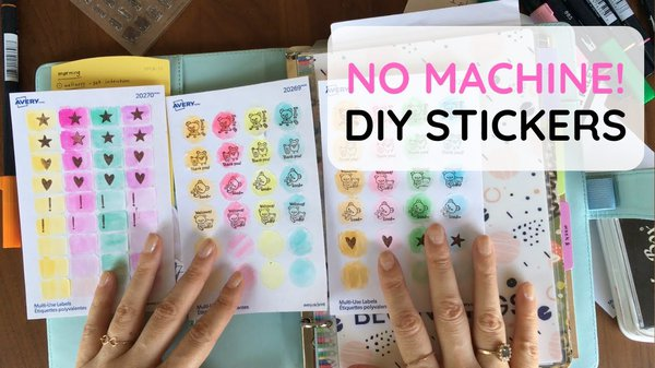 Watercolor stickers Youtube video thumbnail