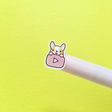 Corgi Youtube sticker icon on marker tip